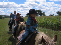 Horseback riding with kids in Northern Michigan